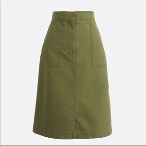 NWT J. Crew A-line Skirt with Pockets